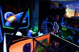 Teambuilding laser game